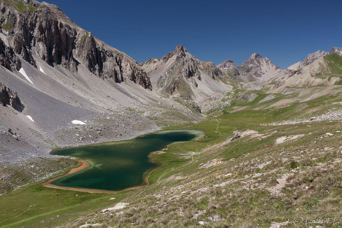 "Eté sur le lac de l'Orrenaye  |  1/60 s à f/9,0 - 100 ISO - 40 mm  |  07/07/2016 - 13:51  |  44°25'49"" N 6°55'38"" E  |  2496 m"